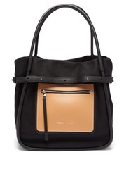 Proenza Schouler Inside Out Canvas And Leather Tote Bag Black Multi