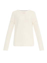 Wes Gordon Ribbed Cotton Blend Sweater