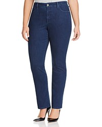 Nydj Plus Marilyn Straight Leg Jeans In Summit Highpoint