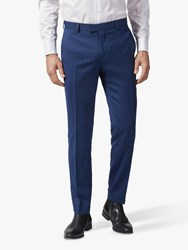 Richard James Mayfair Geo Wool Tailored Suit Trousers Dark Blue