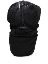 C.P. Company Embroidered Logo Backpack Black