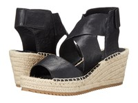 Eileen Fisher Willow Black Tumbled Leather Women's Wedge Shoes