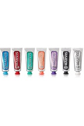 Marvis Flavor Collection Gift Set Licorice Mint Cinnamon Classic Ginger Jasmine And Whitening Toothpaste 7 X 25Ml