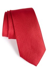 Nordstrom Men's Men's Shop Solid Silk Tie Red