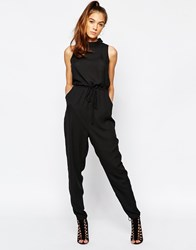 Daisy Street Roll Neck Jumpsuit Black