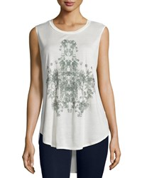 Haute Hippie Rose Chandelier Graphic Tank Swan Black Women's Size S