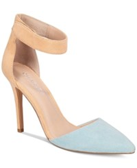 Charles By Charles David Pointer Two Piece Pumps Women's Shoes Blue Nude