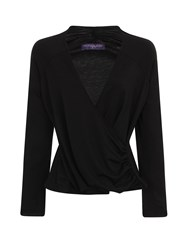 Hotsquash Crossover Top In Thinheat Fabric Black