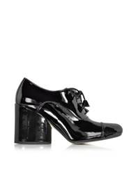 Marc Jacobs Black Patent Leather Lace Up Bootie