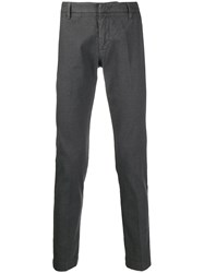 Entre Amis Glen Check Trousers Grey