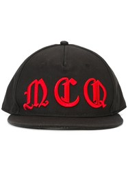 Mcq By Alexander Mcqueen Embroidered Logo Cap Black