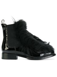 Car Shoe Fur Front Ankle Boots Black
