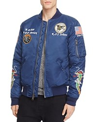 Schott West Pacific Souvenir Bomber Jacket Navy