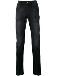 7 For All Mankind Straight Leg Jeans Men Cotton Polyester Spandex Elastane 31 Black