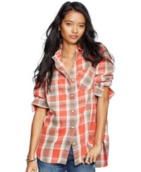 Denim And Supply Ralph Lauren Button Down Flannel Shirt Havelock Plaid