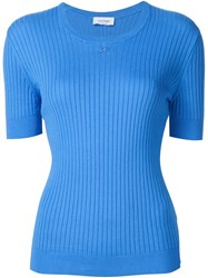 Courra Ges Ribbed Sweater Blue