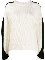 Lala Berlin Twisted Sleeve Sweater White