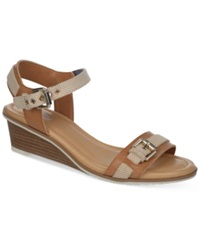 Dr. Scholl's Glendale Wedge Sandals Women's Shoes Taupe
