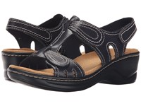 Clarks Lexi Walnut Q Navy Leather Women's Sandals Blue