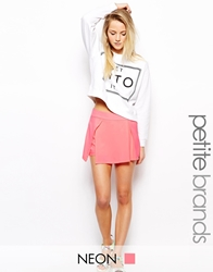 Girls On Film Petite Tailored Skort Neonpink