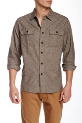 Grayers Heritage Solid Long Sleeve Flannel Regular Fit Shirt Green