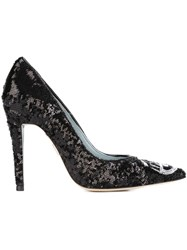 Chiara Ferragni 'Flirting' Sequin Pumps Black