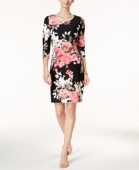 Charter Club Printed Shift Dress Created For Macy's Deep Black Floral Combo