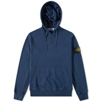 Stone Island Garment Washed Hoody Blue