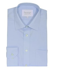 Double Two Men's Plain Non Iron Micro Twill Shirt Ice Blue