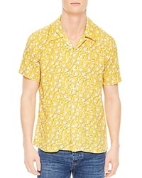 Sandro Bloom Classic Fit Button Down Shirt Yellow