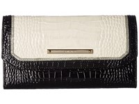 Brahmin Soft Checkbook Wallet Ivory Wallet Handbags White