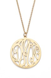 Argentovivo 'S Argento Vivo Personalized 3 Letter Monogram Necklace
