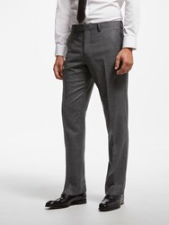 John Lewis Zegna Check Suit Trousers Grey