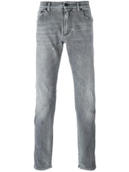 Dolce And Gabbana Straight Leg Jeans Grey