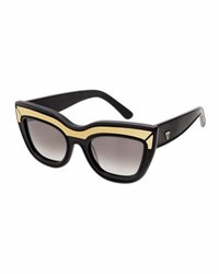 Valley Eyewear Marmont Limited Edition Cat Eye Sunglasses Black Black Gold