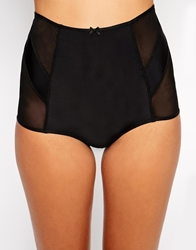 The Intimate Collection By Britney Spears Camellia High Waist Brief Black