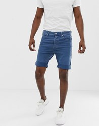 Replay 901 Denim Shorts In Mid Blue