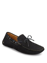 Saks Fifth Avenue Suede Camp Moccasins Navy