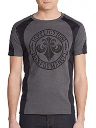 Affliction Core Graphic Tee Silver Black