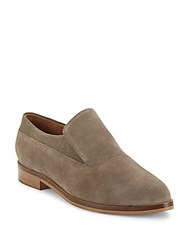 Seychelles Leather Almond Toe Slip Ons Taupe