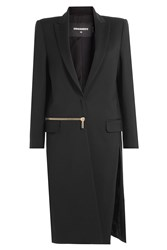 Dsquared2 Coat With Virgin Wool Black