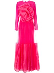 Costarellos Floral Embellished Maxi Dress Pink