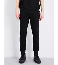 Julius Knee Panel Pure Cotton Jogging Bottoms Black