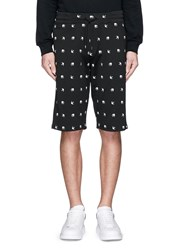 Mcq By Alexander Mcqueen Swallow Intarsia Sweat Shorts Black