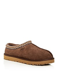 Ugg Men's Tasman Suede And Shearling Slippers Chocolate