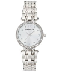 Charter Club Women's Pave Rose Gold Tone Bracelet Watch 28Mm Only At Macy' Silver