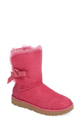 Uggr Women's Ugg Classic Knot Short Boot Diva Pink Suede