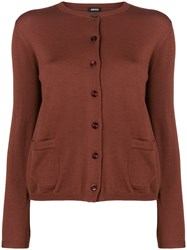 Aspesi Fitted Lightweight Cardigan Brown