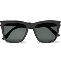 Saint Laurent Devon D Frame Acetate Sunglasses Black
