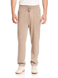 Ralph Lauren Cashmere And Silk Blend Sweatpants Taupe Heather